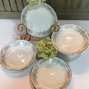Vintage Dining - Norleans China Theresa Fruit Dessert Bowl Set of 4